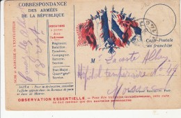 """CORRESPONDANCE Des ARMÉES De La RÉPUBLIQUE """" Lacoste Alban  Hôpital Temporaire N° 49 Moissac """" - Militari"""