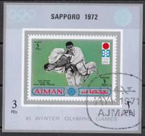 766B Ajman 1971 Isao Okano Oro Tokio 1964 Arti Marziali : Judo (Sapporo´72) Nuovo Preobliterato