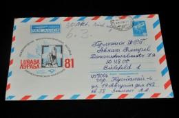 93 Luftpostumschlag Von Russland Nach Deutschland Bielefeld - Allemagne
