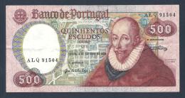 PORTUGAL BILLET DE 500 ESCUDOS 4 OCTOBRE 1979 Voir Signatures - Portugal