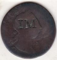 Irlande ½ Penny 1769 Contremarque IM (ILE MAURICE ??) - Mauritius