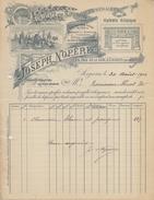 BELGIË/BELGIQUE :1904: Facture De ## JOSEPH NOPÈRE, Soignnies ## à ## Mr. Rousseau Huet, Soignies ## - Other