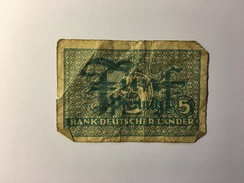 Bank Deutscher Lander 5 Pfennig - [10] Military Banknotes Issues
