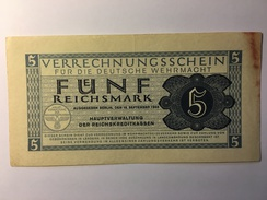 Deutsche Wehrmacht 5 Reichsmark 1944 - [10] Military Banknotes Issues