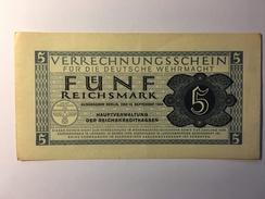 Deutsche Wehrmacht 5 Reichsmark 1944 - [10] Militaire Uitgaven