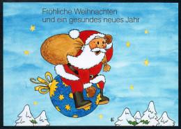 8133 - Alte Glückwunschkarte - Weihnachten - Weihnachtsmann Mit Geschenke - TOP - Santa Claus