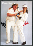 "Germany,Deutschland Signierte Color Autogrammkarte""Klaus & Klaus,Sänger Duo""1 Karte - Autogramme"