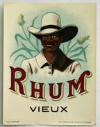 Etiquette Ancienne Alcool RHUM Vieux CHEVALIER MORLAIX - Rhum