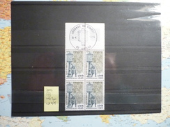Bloc De 4 Timbres Relevage Du Courrier En 1900 Avec Cachet Journée Du Timbre 8/04/1978 Amiens - Used Stamps