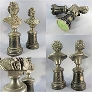 ~ STATUES BEETHOVEN & MOZART # Musique Musicien Classique Sculpture - Sculptures