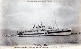Cpa Navire Hôpital Français LAFAYETTE, Campagne D'orient 14/18 (52.85) - Guerre