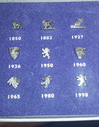 PIN´S Lot De 9 Pin's PEUGEOT  Les Différents Logos L AVENTURE PEUGEOT - Peugeot