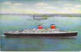 "PAQUEBOT Cruise Ship Kreuzfahrtschiff : "" S.S. AMERICA - CPSM Colorisée PF 1963 ( Cruiseschip Pakkeboot ) - Steamers"
