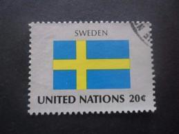 Nations Unies Siège De New York N°405 DRAPEAU De Suède Oblitéré - Postzegels