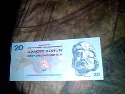 Billet De Banque De Tchecoslovaquie De 20 Couronnes Neuf - Tchécoslovaquie
