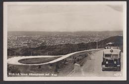 Wien, Karte Wiener Hochstraße Kahlenberg, Carte Postale, Autobus Nr. 21, Blick Auf Wien 1938 - Deutschland