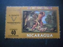 Nicaragua N°925 TABLEAU De F. Trevisani Oblitéré - Arte