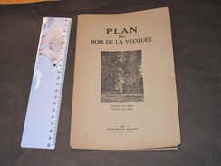SERAING - PLAN DU BOIS DE LA VECQUEE  - IMPRIMERIE BENARD  LIEGE 1926 - Geographical Maps