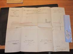 PROVINCE DE NAMUR - COMMUNE D'ANDENNE - PLAN D'ALIGNEMENT DEMANDE PAR M GERARD DOZIN - LE 30/9/1829 - Architecture