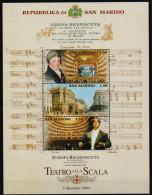 San Marino 2004  Reopening Scala Milan Theathre 1 SS MNH - Théâtre