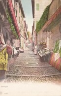 Italy Bellagio Street Scene With Markets - Como