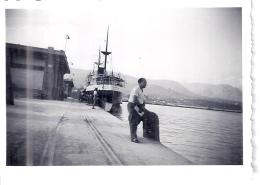 """""""CYRNOS""""  A QUAI  ANNEE 1940.50 ENVIRON   9X6CM - Barche"""
