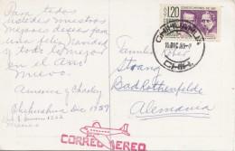 Weihnachtskarte Aus MEXICO Gel.1959 Mit Marke - Mexiko