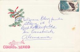 Weihnachtskarte Aus MEXICO Gel.1960 Mit Sondermarke - Mexiko