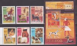 Cuba 2010 Kuba Mi 5363-5368 + Block 275(5369) Dogs And Art / Hunde Und Kunstwerke **/MNH - Chiens