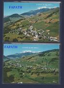 73-CREST-VOLAND-vues Générales Aériennes Et Mont-Blanc-lot De 2 Cartes Postales-non écrites-2 Scans-10.5 X15-CIM COMBIER - Cartes Postales