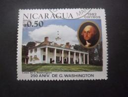Nicaragua N°1200 GEORGE WASHINGTON Oblitéré