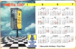Sri Lanka. - GPT, Lanka Pay Phones, 1997 Calendar, 31SRLB, Used