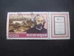 Nicaragua N°1203 KARL MARX Oblitéré - Karl Marx
