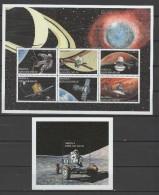 Angola 1999 Space Sheetlet + S/s MNH