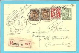339+341 Op Entier AANGETEKEND Met Stempel LIEGE 5 - 1931-1934 Képi