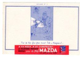Nov16 78025   Buvard Pile Mazda   N° 3 - Piles