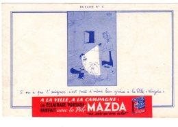 Nov16 78023   Buvard Pile Mazda   N° 4 - Piles