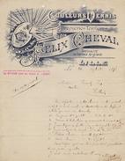 FRANCE :1898: ## Couleurs Vernis FÉLIX CHEVAL, Lille ## à ## Vincent Léon, Halluin ##: SAILING VESSEL, - France