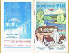 1935 Rare HORAIRES Autocars PLM 36 Pages + Photos  Illustrateur De La Couverture : Robmary  Bon état : Voir Photo  Fra - Europe