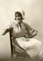 France Jeune Femme En Costume Traditionnel Mode Ancienne Photo 1900