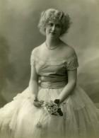 France Jeune Femme Belle Robe Mode Ancienne Photo 1900