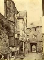 France Normandie Mont Saint-Michel Rue Magasin Ancienne Photo Neurdein 1880 - Photographs