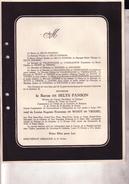 KERKRADE HOUTHEM-ST-GERLACHE Baron De SELYS FANSON Veuf De WOOT De TRIXHE 1861-1946 Doodsbrief NEU ERENSTEIN - Overlijden