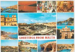 Malta - 13 Ansichten  Gelaufen 1991 - Malta