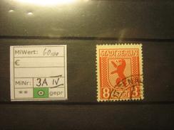 788,SBZ, MiNr.3 A Plattenfehler IV,gestempelt, Mi€ 60,00, Kein Porto, Siehe Abbildung, Nur PayP - Soviet Zone