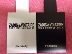 ZADIG & VOLTAIRE - Parfumkaarten
