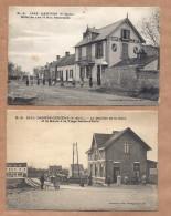 2 X Dannes Camiers LA BUVETTE De La GARE + HOTEL Du LAC. Set Of 2 Old Postcards 1910s FRANCE - Francia