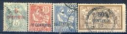 Marocco 1902 - 03 Serie N. 11-17 Lotto Di 4 Valori In Centimos Usati Catalogo € 25 - Used Stamps