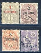 Marocco 1907 - 10 Serie N. 20-24 Valori In Centimos Usati Catalogo € 28 - Used Stamps