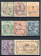 Marocco 1911 - 17 Serie 25-36 Sovrastampa In Arabo Lotto Di 8 Valori Usati Catalogo € 22,80 - Used Stamps